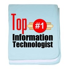 Top Information Technologist baby blanket