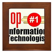 Top Information Technologist Framed Tile