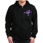 Violet Gecko Zip Hoodie (dark)