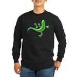 Green Gecko Long Sleeve Dark T-Shirt