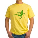 Green Gecko Yellow T-Shirt