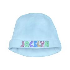 Jocelyn Rainbow Pastel baby hat