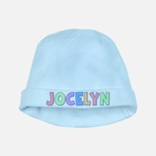 Jocelyn Rainbow Pastel baby hat