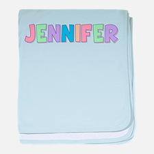 Jennifer Rainbow Pastel baby blanket