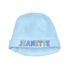 Jeanette Rainbow Pastel baby hat