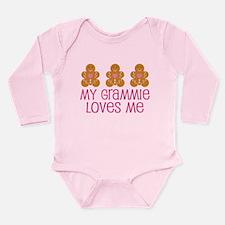 Grammie Loves Me Gingerbread Long Sleeve Infant Bo