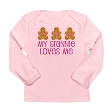 Grannie Loves Me Gingerbread Long Sleeve Infant T-