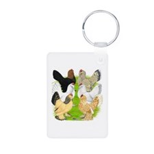 Six DUccle Hens Keychains