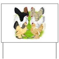 Six DUccle Hens Yard Sign
