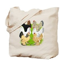 Six DUccle Hens Tote Bag