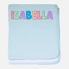 Isabella Rainbow Pastel baby blanket