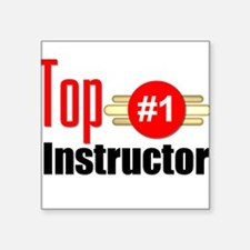 """Top Instructor Square Sticker 3"""" x 3"""""""