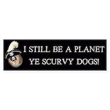 Pirate Pluto Bumper Bumper Sticker