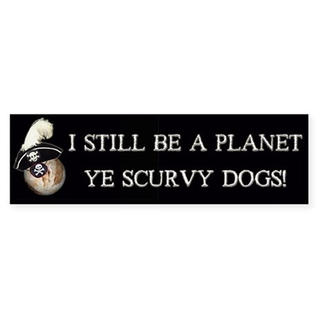 Pirate Pluto Bumper Sticker