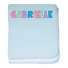 Gabrielle Rainbow Pastel baby blanket