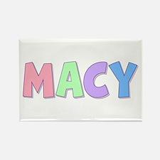 Macy Rainbow Pastel Rectangle Magnet