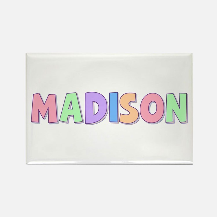 Madison Rainbow Pastel Rectangle Magnet