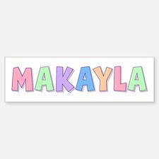 Makayla Rainbow Pastel Bumper Car Car Sticker
