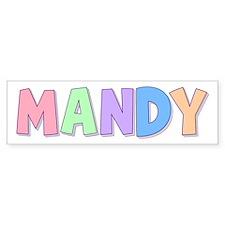 Mandy Rainbow Pastel Bumper Bumper Sticker