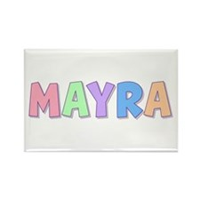 Mayra Rainbow Pastel Rectangle Magnet