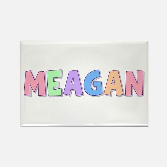 Meagan Rainbow Pastel Rectangle Magnet