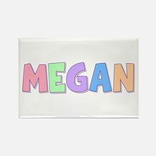 Megan Rainbow Pastel Rectangle Magnet