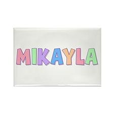 Mikayla Rainbow Pastel Rectangle Magnet