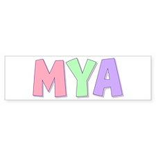 Mya Rainbow Pastel Bumper Bumper Sticker