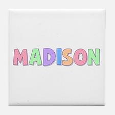 Madison Rainbow Pastel Tile Coaster
