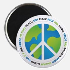 World Peace Sign Magnet