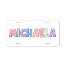 Michaela Rainbow Pastel Aluminum License Plate