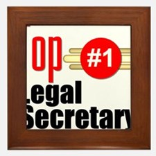 Top Legal Secretary Framed Tile