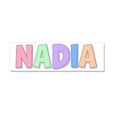 Nadia Rainbow Pastel 10x3 Car Magnet