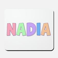 Nadia Rainbow Pastel Mousepad