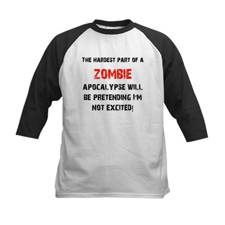 Zombies? Excited! Kids Baseball Jersey