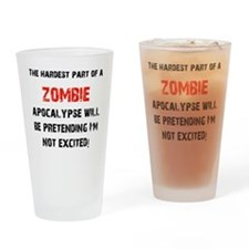 Zombies? Excited! Drinking Glass