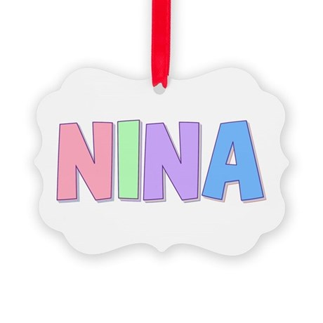 Nina Rainbow Pastel Picture Ornament