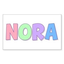 Nora Rainbow Pastel Rectangle Decal