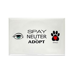 Spay, Neuter, Adopt Rectangle Magnet (10 pack)