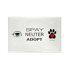 Spay, Neuter, Adopt Rectangle Magnet (10 pack)