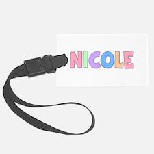 Nicole Rainbow Pastel Luggage Tag