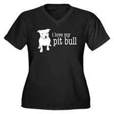 Love My Pit Bull (Natural Ears) Plus Size T-Shirt