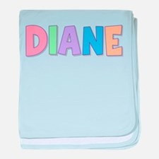 Diane Rainbow Pastel baby blanket