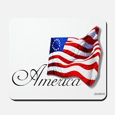 America 13 Star American Flag Mousepad