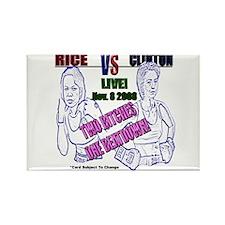 Rice VS. Clinton 2008 Rectangle Magnet