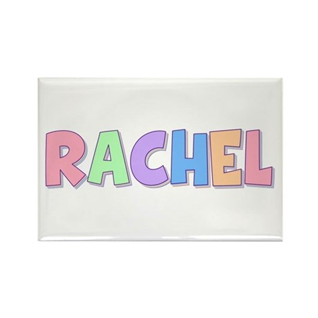 Rachel Rainbow Pastel Rectangle Magnet