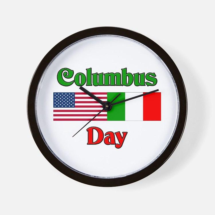 Columbus Day Wall Clock