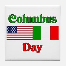 Columbus Day Tile Coaster