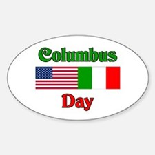 Columbus Day Oval Decal