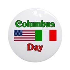 Columbus Day Ornament (Round)
